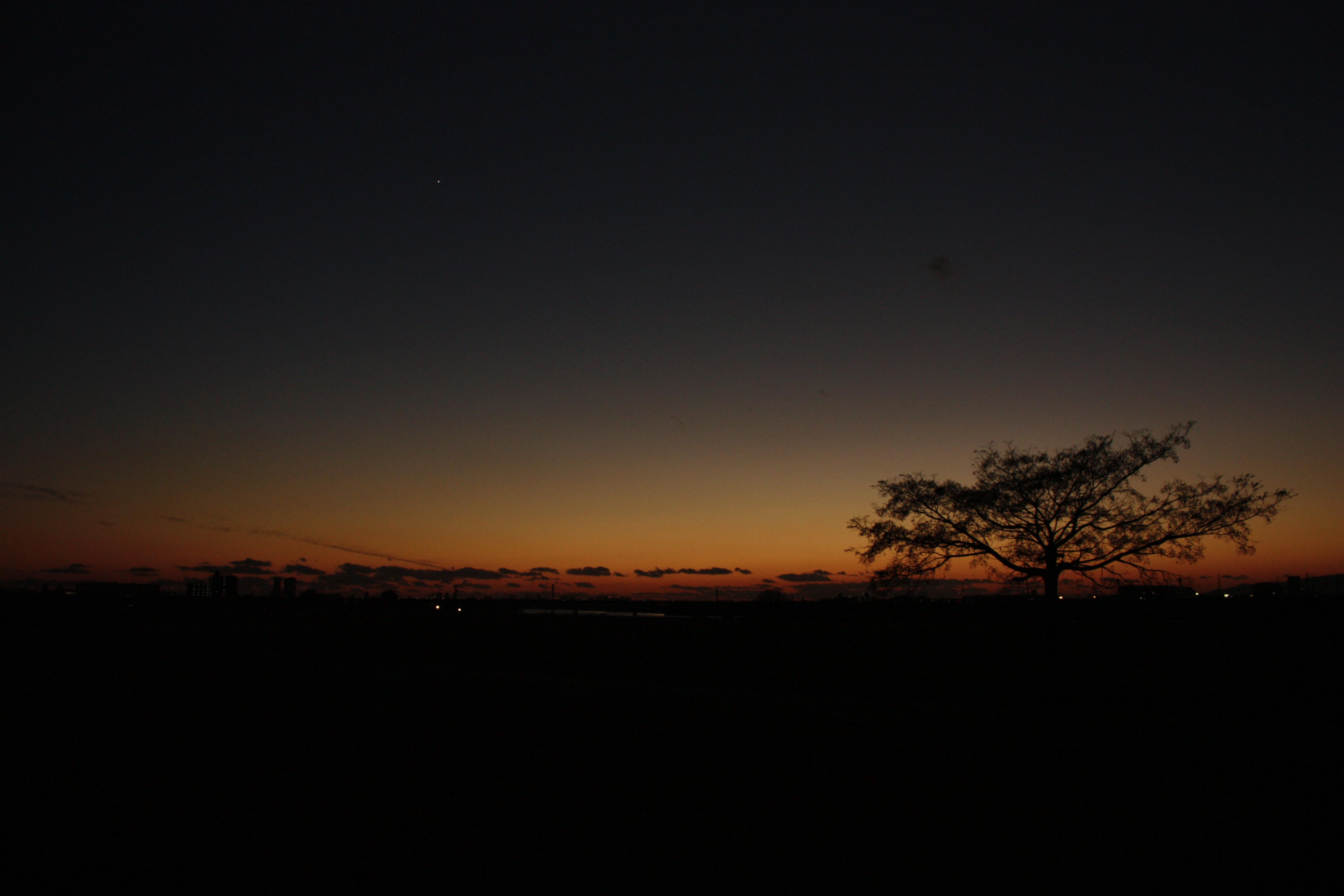 Yodogawa sunset photo