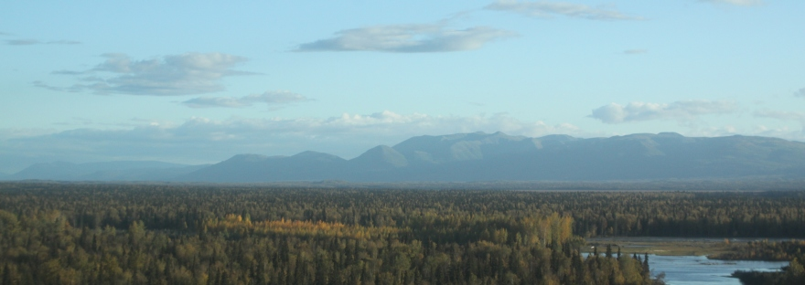 mt susitna from air