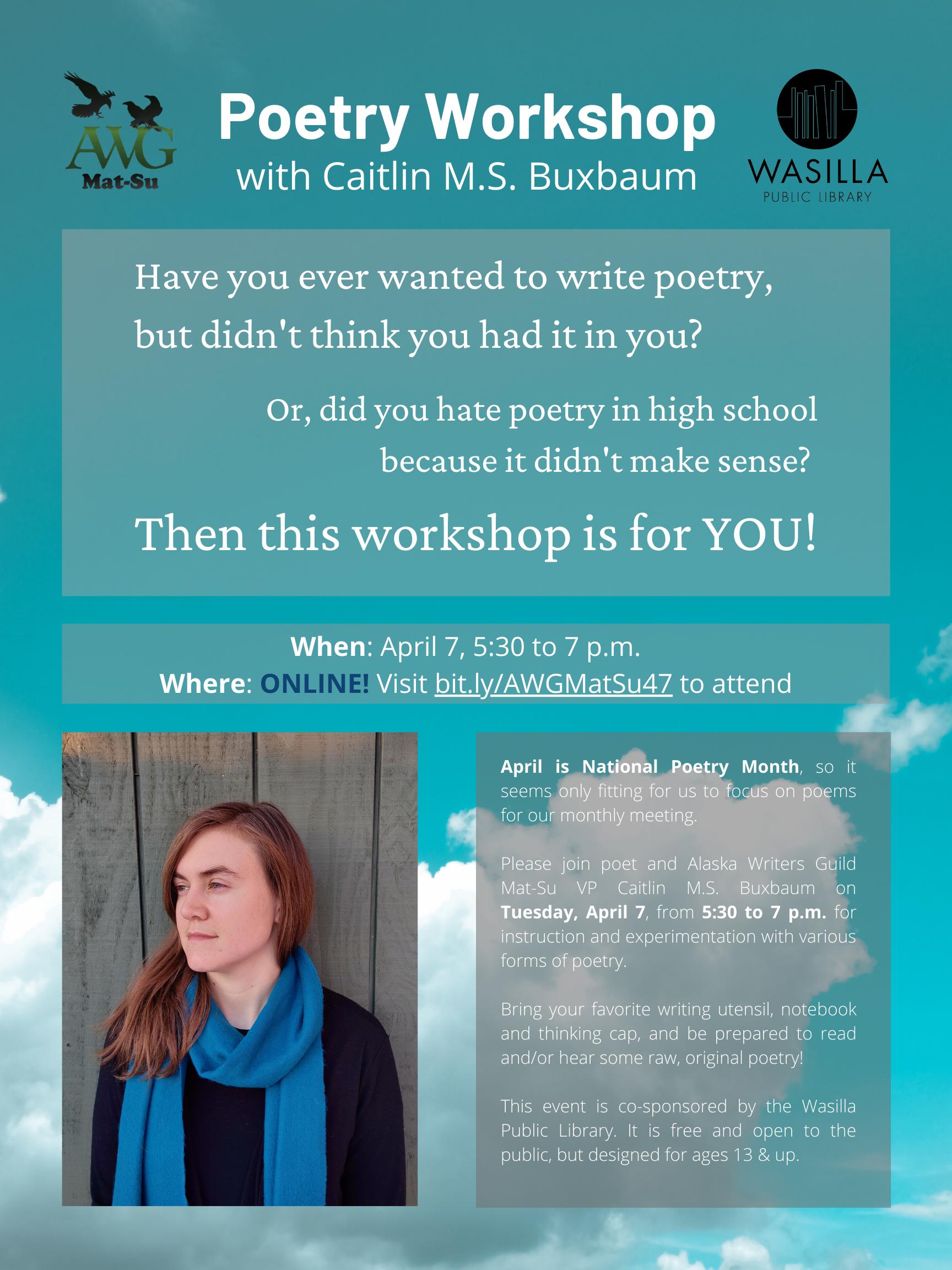 Poetry Workshop Poster