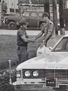 My grandpa shaking hands with some general in Vietnam...