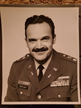 My grandpa as a major...with an mustache.